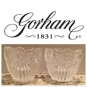 GORHAM CRYSTAL ANGELS OF PEACE CHRISTMAS VOTIVES